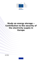 Study of  the European Commission: Energy Storage – Contribution to the Security of the Electricity Supply in Europe (2020)